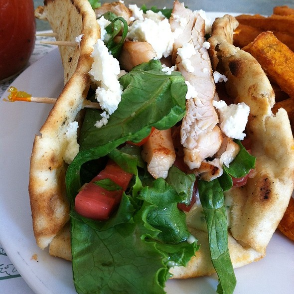 Grilled Chicken Pita - Mad Batter Restaurant, Cape May, NJ