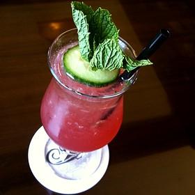 Pomegranate Cucumber Mojito - The Bengal Lounge - The Fairmont Empress Hotel, Victoria, BC