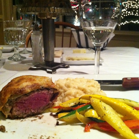 Beef Wellington & Parmesan Risotto - Cutler's, Athens, OH