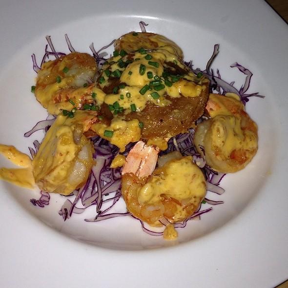 Crispy Taro Shrimp (dim sum) - Douzo Modern Japanese Restaurant, Boston, MA