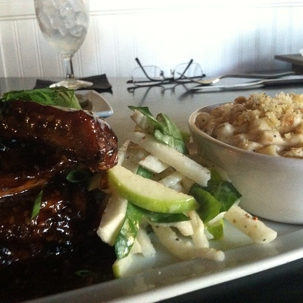 Thai spiced baby back ribs with hoisin glaze, jicama slaw and lemongrass oil - The Herb Box - DC Ranch, Scottsdale, AZ