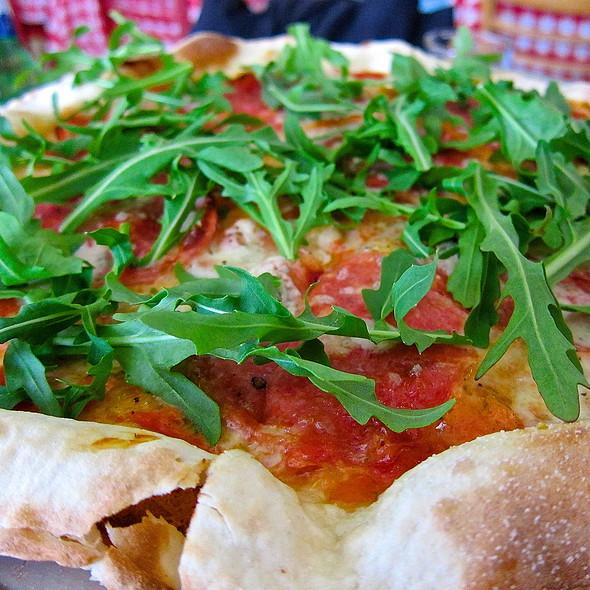 Funghi Porcini Ed Arugola Za/ San Marzano Tomato/ Fresh Mozzarella/ Italian Porcini Mushrooms/ Arugola/ Parmigiano - Baonecci Ristorante, San Francisco, CA