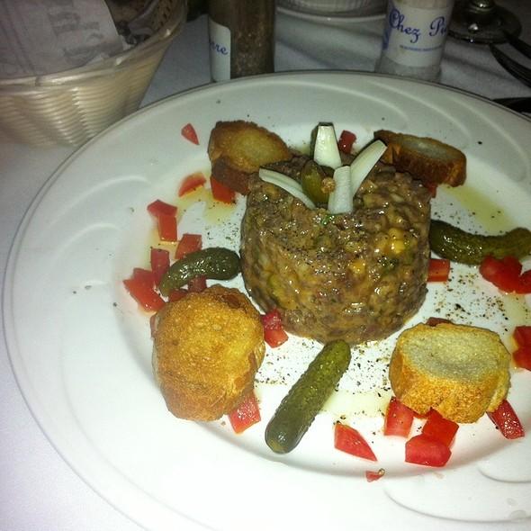 steak tartare - Chez Pierre Bistro, Palm Desert, CA