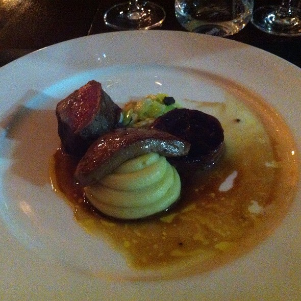 Dry Aged Beef Fillet, Roasted Foie Gras & Leeks - Corrigan's Mayfair, London