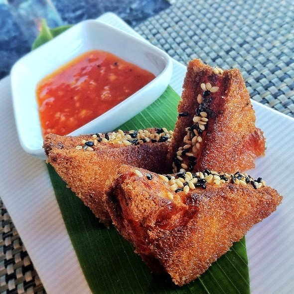 Sesame Crusted Prawn Toast - WP24 by Wolfgang Puck, Los Angeles, CA