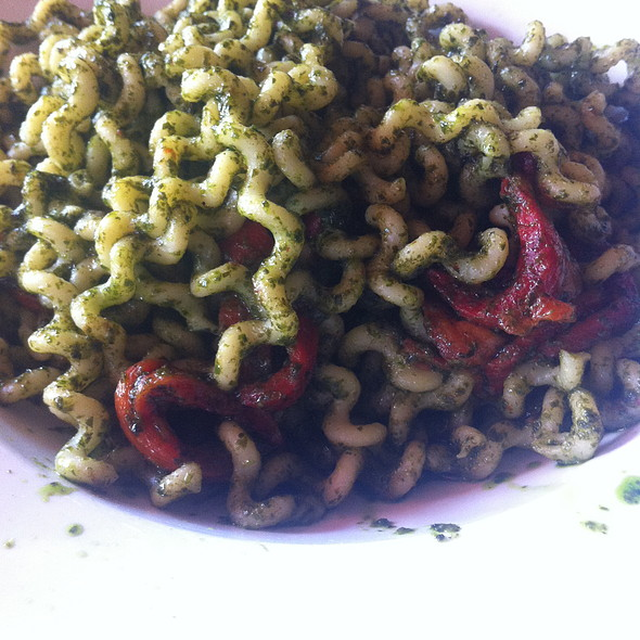 Long Fusilli with Pesto - Catherine Lombardi, New Brunswick, NJ