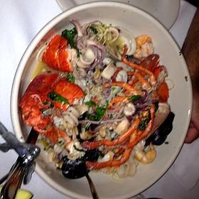 angel hair pasta with seafood - Carmine's - Atlantic City, Atlantic City, NJ