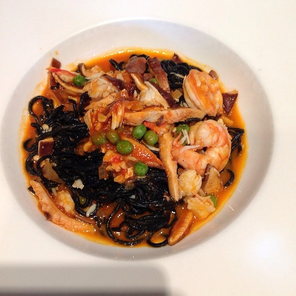 Squid Ink Pasta With King Crab And Shrimp - Grissini, Englewood Cliffs, NJ