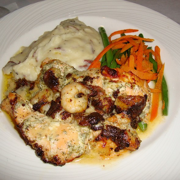Brie & Shrimp Stuffed Salmon w/ Mashed Potatoes - Rusty Scupper - Baltimore, Baltimore, MD