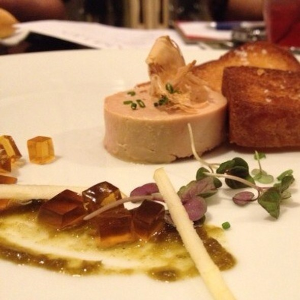 Miso Cured Foie Gras Torchon ~ Apple Ponzu Gelee • Bonito • Yuzu Kosho • Brioche - Pyramid Restaurant and Bar, Dallas, TX