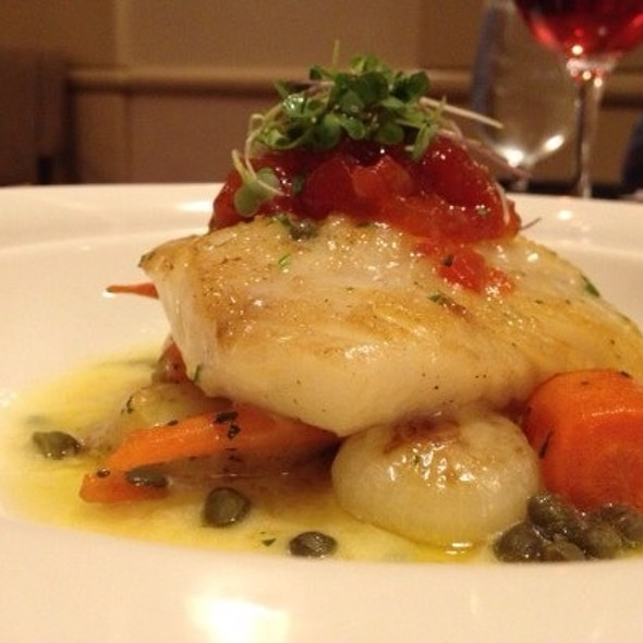 Roasted Cod ~ Caper Beurre Blanc • Tomato Marmalade • Glazed Vegetables - Pyramid Restaurant and Bar, Dallas, TX