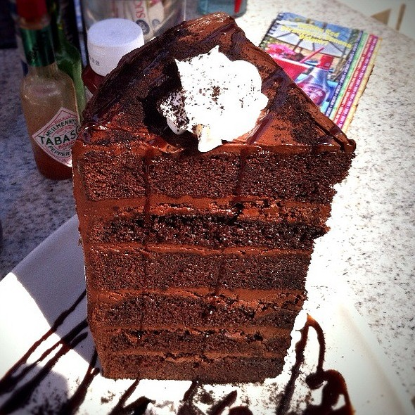 Mile High Chocolate Cake - Paradise Cove Beach Cafe, Malibu, CA