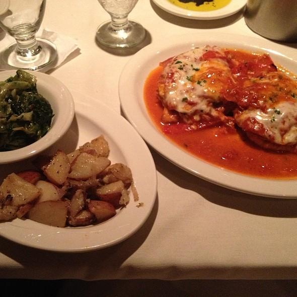 Chicken Melanzane - Cornells Restaurant, Schenectady, NY