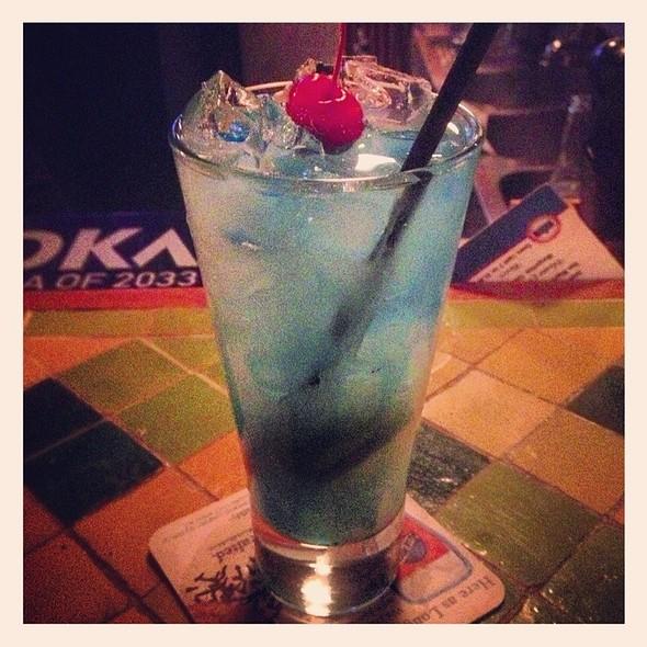 Blue Hawaiian Cocktail - Chutney Masala, Irvington, NY
