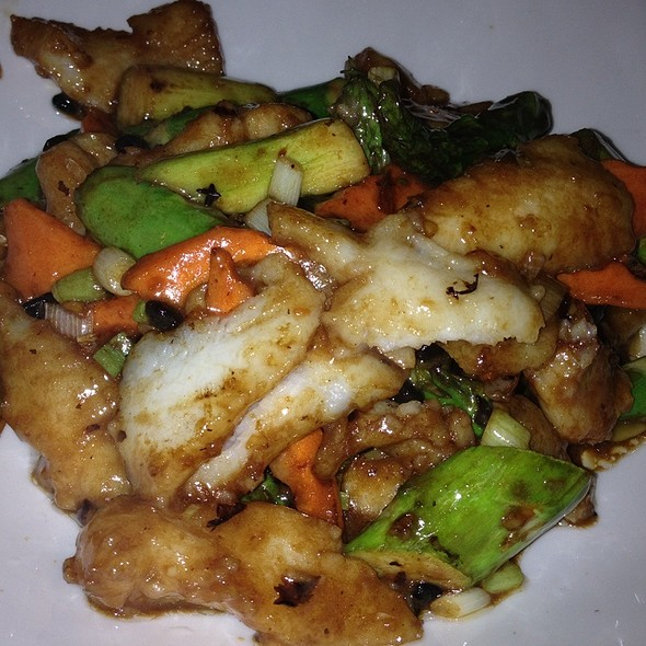 White Fish With Asparagus In Black Bean Sauce - Wokcano - Downtown LA, Los Angeles, CA