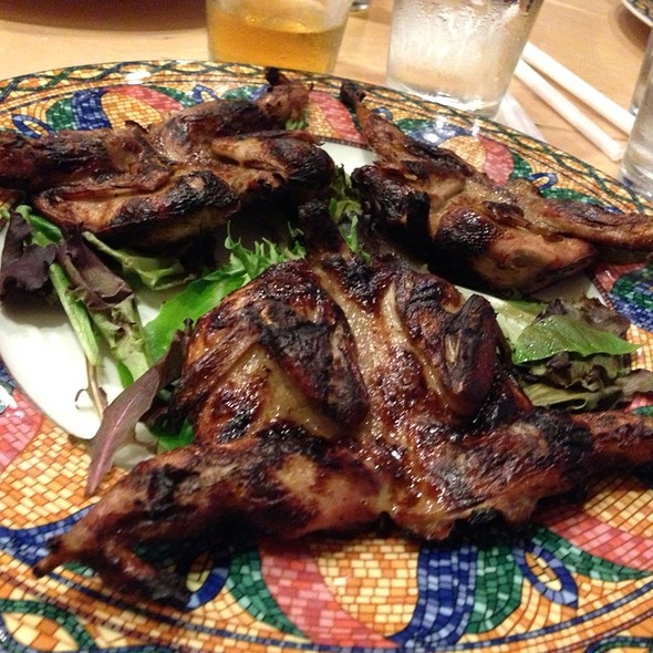 Grilled Quail - Cleopatra Restaurant, High Point, NC