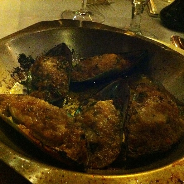 Baked New Zealand Mussels - Le Rivage, New York, NY