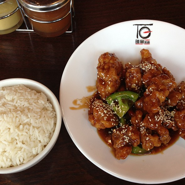 Sesame Chicken With White Rice - Lao Sze Chuan Uptown, Chicago, IL