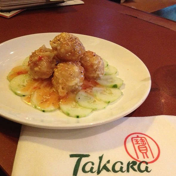 Tempura Spicy Tuna Cream Cheese Ball - Takara Japanese Steakhouse, Oakhurst, NJ