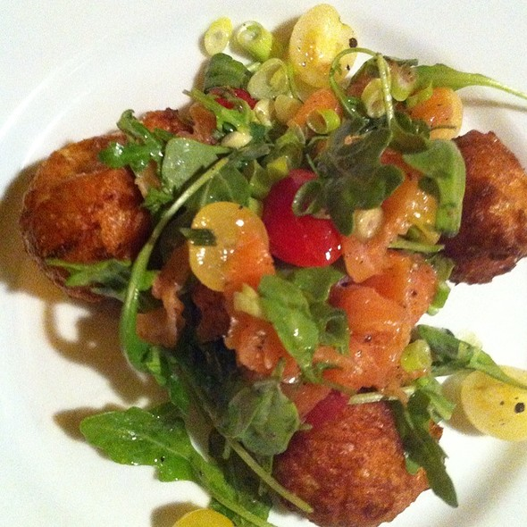 Corn Beignets And Smoked Salmon - Bistro 29, Santa Rosa, CA