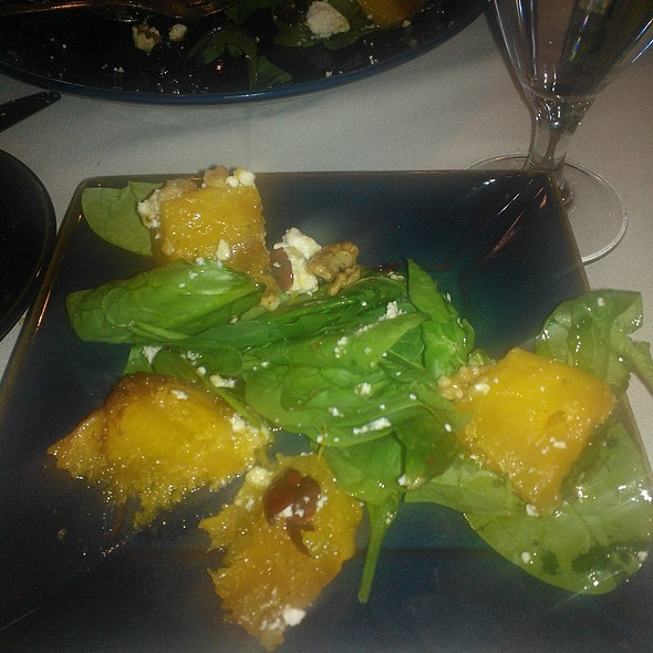 Pumpkin spinich salad - Basils Greek Dining, Aurora, IL