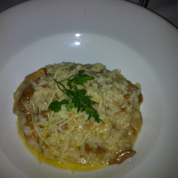 Mushroom Risotto with Parmesan Shavings and Chestnuts - Mathilde French Bistro, San Francisco, CA