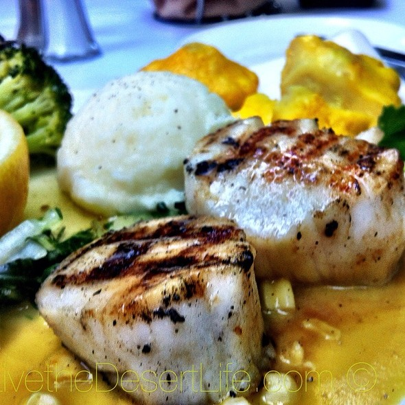 Grilled Diver Scallops - The Ranch House, Ojai, CA