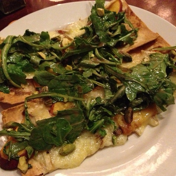 Grilled Peach & Brie Flatbread Pizza - D4 Irish Pub and Cafe, Chicago, IL