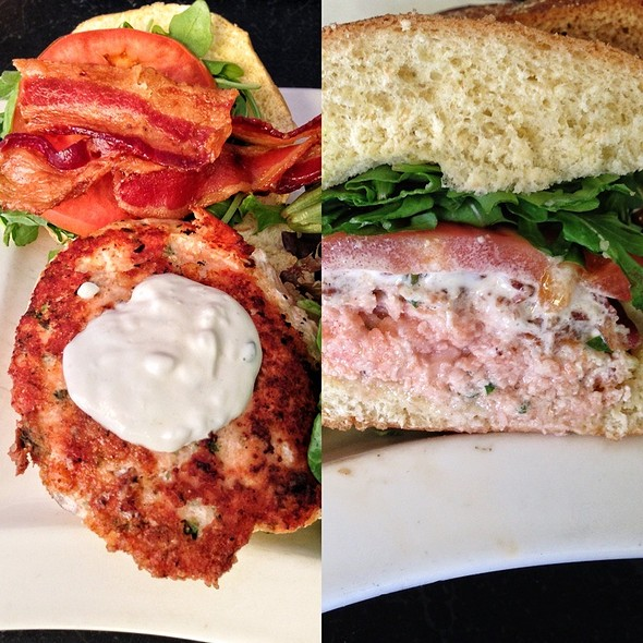 Salmon burger - 310 Park South, Winter Park, FL