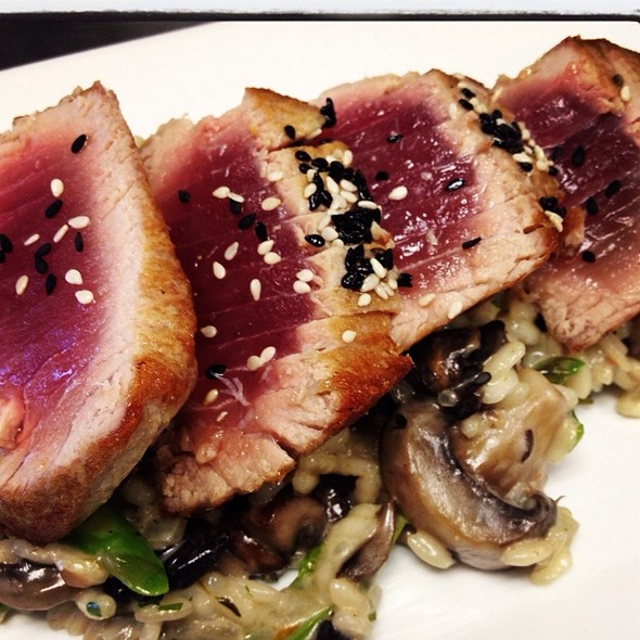 Seared Ahi Tuna With Mushroom Risotto - Kings Oak, Philadelphia, PA