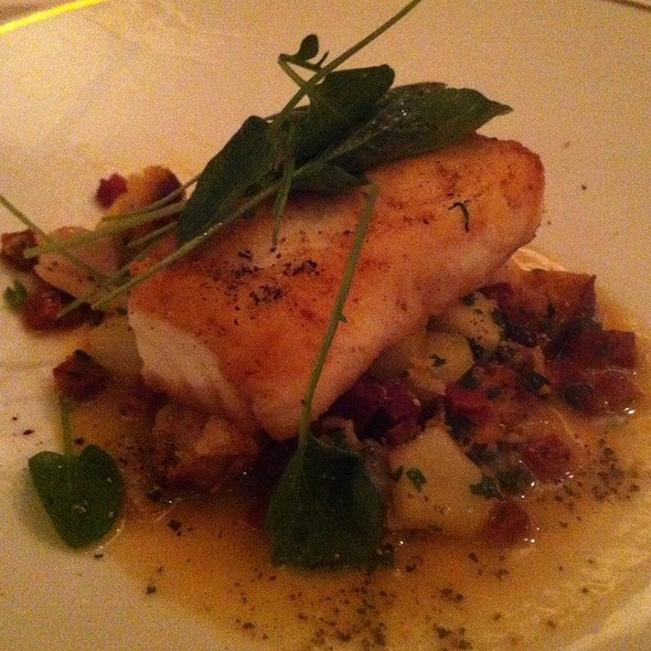 Seared Halibut - Orchids at Palm Court, Cincinnati, OH