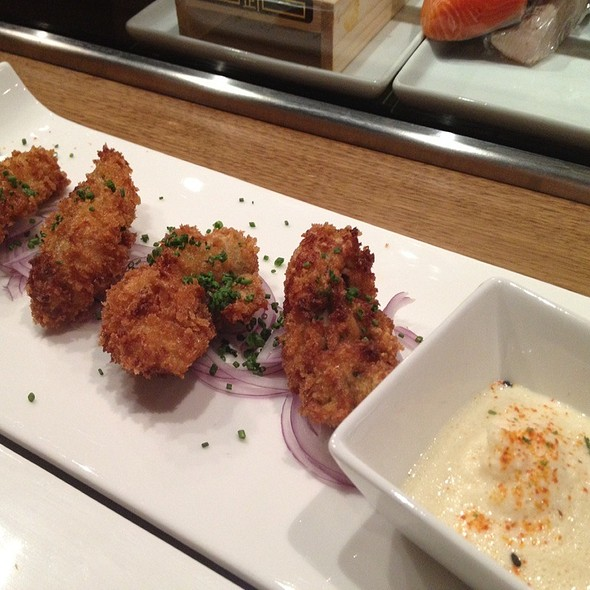 fried oysters - Jado Sushi, New York, NY