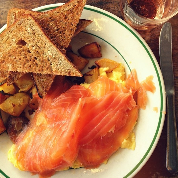 Scrambled Eggs And Smoked Salmon - Pastis, New York, NY