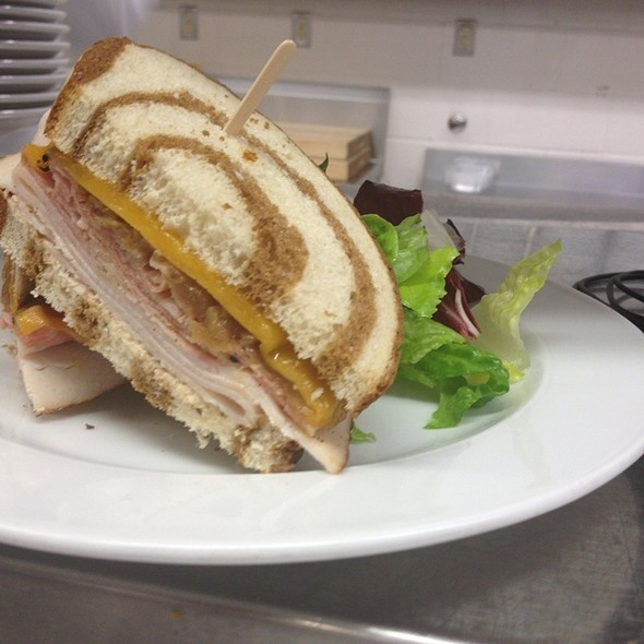 Lunch Sandwich Special - Corned Beef, Turkey With A Beer Infused Caramelized Onions, Yellow Chedder And A Garlic, Chipotle Aioli On Marble Rye - Benchmark, Niagara-on-the-Lake, ON