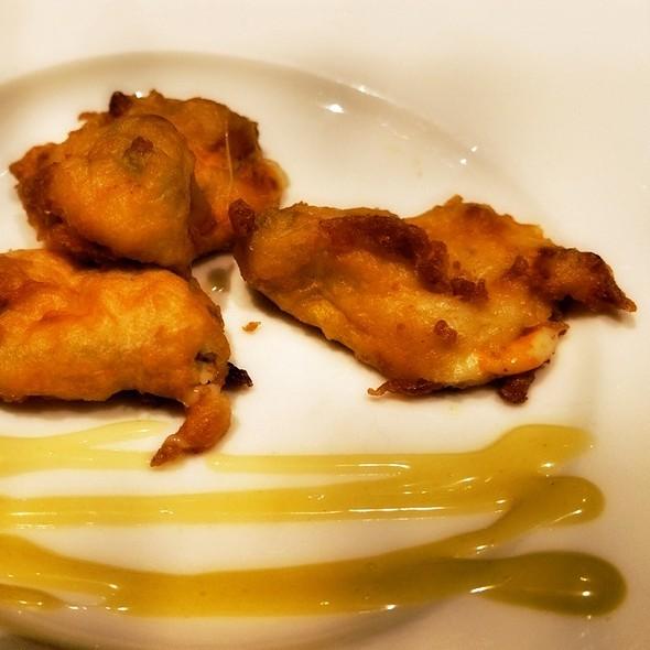 Cheese Stuffed Squash Blossoms - Peppercorns Grill, Hartford, CT
