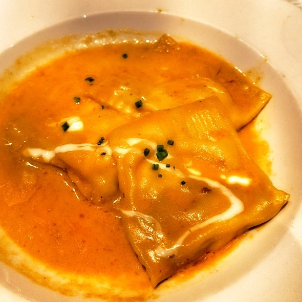 Squash Ravioli In Sage Truffle Butter Sauce - Peppercorns Grill, Hartford, CT