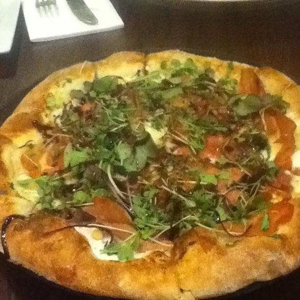 Proscuitto White Pizza - Delia's Mediterranean Grill & Brick Oven Pizza, Alexandria, VA
