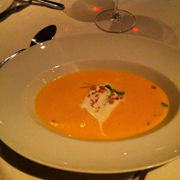 Roasted Butternut Squash and Lobster Bisque - La Chronique, Montréal, QC