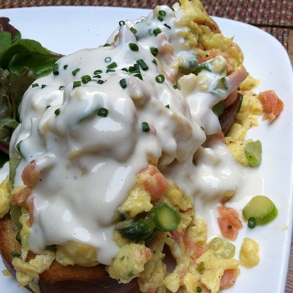 Smoked Salmon Scramble With Goat Cheese Fondue - Vintry Wine & Whiskey, New York, NY