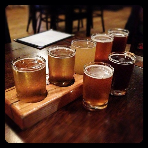 Beer Flight - Bastone Brewery, Royal Oak, MI