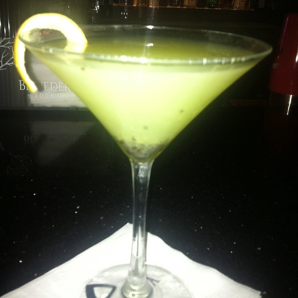 Kiwi Lemon Drop Martini  - Blue Fire Grill at Omni La Costa Resort & Spa, Carlsbad, CA