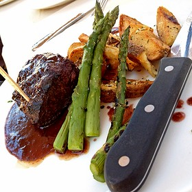 flat iron steak - The Restaurant at Ponte, Temecula, CA