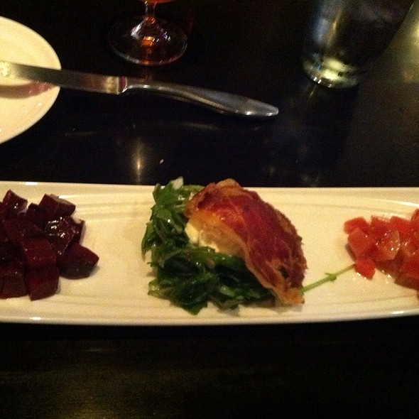 Bon Slow Roasted Beet Salad, Crispy Prosciutto, Arugula, Burrata Cheese   One Red  Door