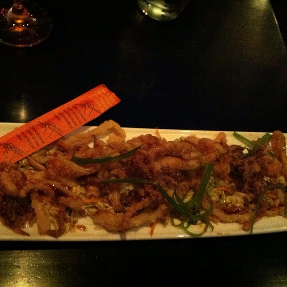 Crispy Calamari, Peanuts, Thai Slaw - One Red Door, Hudson, OH
