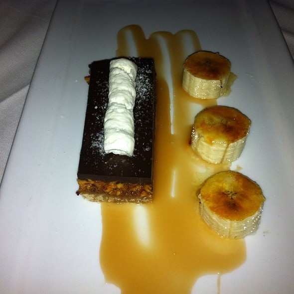 Snickers Style Bar With Bruleed Bananas And Salted Caramel - Daniel George Restaurant and Bar, Mountain Brook, AL