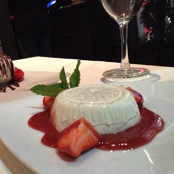 Vanilla bean panna cotta - Piccolo Paradiso, Beverly Hills, CA
