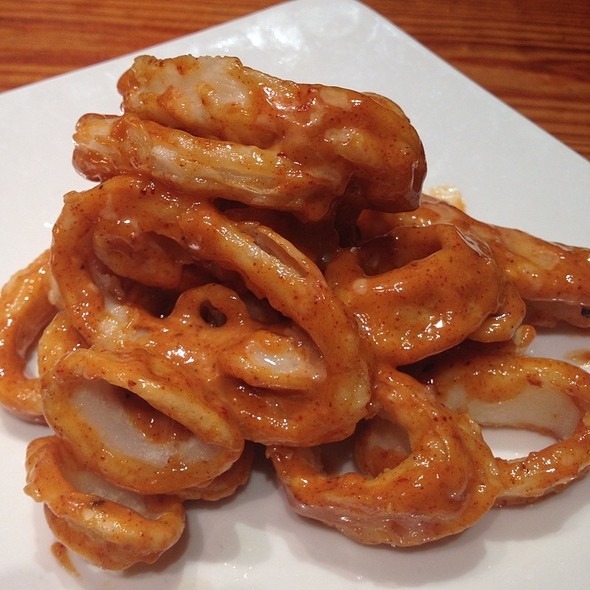 Calamares crujientes- rocotto pepper-honey alioli - Macondo East, New York, NY