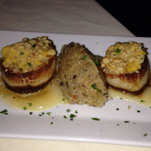 Pine Nut Crusted Divers Scallops - A La Provence, Tallahassee, FL