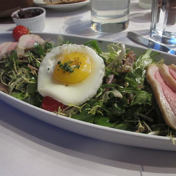 Salade Périgourdine - Smoked Duck Breast, Duck Fried Eggs and Bacon - Bistro Bordeaux, Evanston, IL