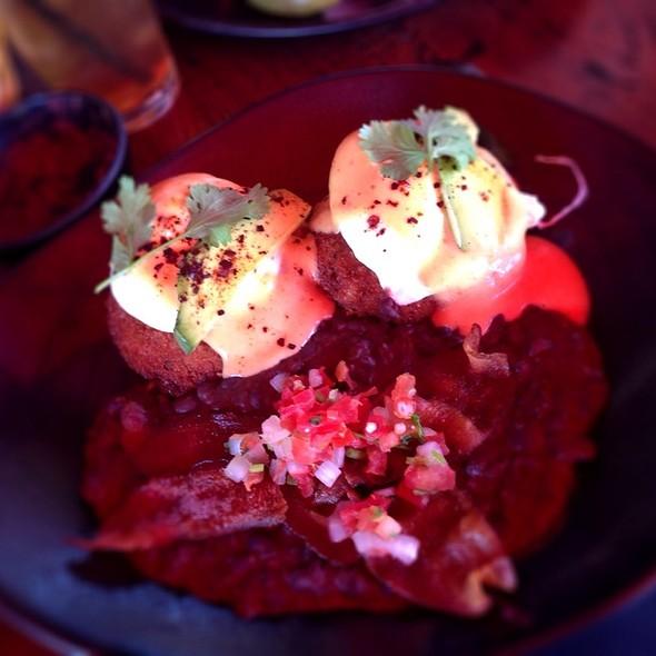 Shrimp And Crab Cakes Benedict - SOL Cocina, Scottsdale, AZ